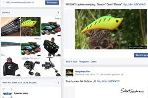 Update - Advertenties hengelsportzaken verschijnen nu ook op Facebook