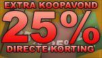 Woensdag 20 juli 2011: Extra koopavond Raven & Vlemmix 25% directe korting